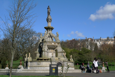 Scotland, Glasgow, West End, Kelvingrove Park, Stewart memorial fountain