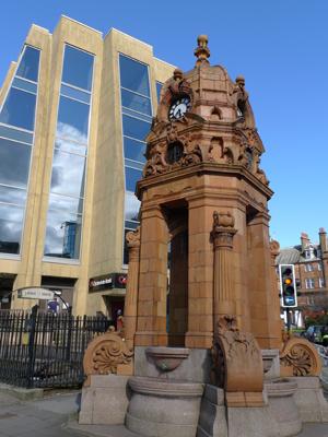 Scotland, Glasgow, fountain, Sir Charles Cameron
