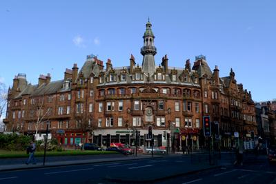 Scotland, Glasgow, Charing Cross mansions