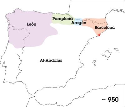 Iberian Peninsula, year 950