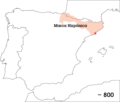 Marca Hispánica map