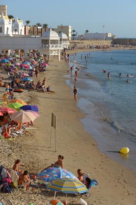 España, Spain, Cádiz, Playa de la Caleta