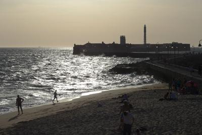 España, Spain, Cádiz, Castillo de San Sebastián