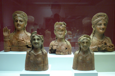 España, Spain, Cádiz, Phoenician terracotta bustos