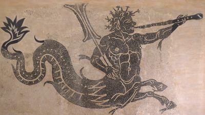 España, Spain, Cádiz, Roman mosaic