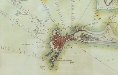 España, Cádiz, Spain, map, Museo de las Cortes
