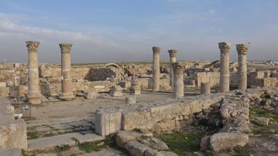 Jordan, Amman, citadel, Roman ruins