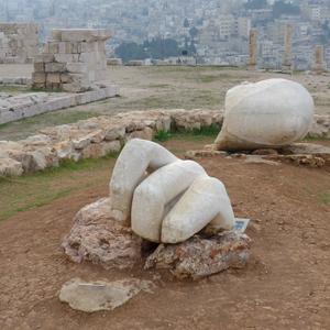 Jordan, Amman, citadel, Roman ruins, hand of Hercules