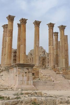 Jordan, Jerash, Roman ruins, Temple of Artemis