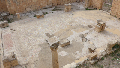 Jordan, Jerash, Roman ruins, church mosaics