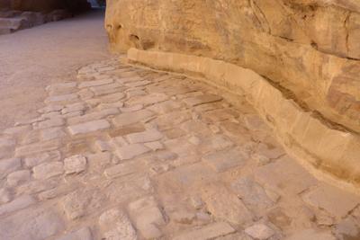 Jordan, Petra, necropolis, pavement