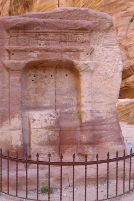 Jordan, Petra, necropolis, prayer niche