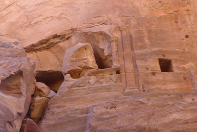 Jordan, Petra, street of façades, tomb