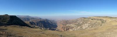 Jordan, Wadi Mujib, panorama