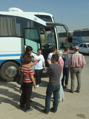 Jordan, border crossing, German tourists