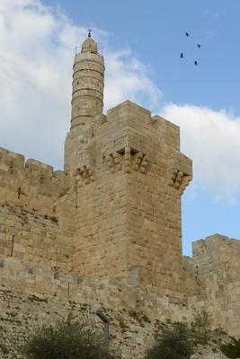 Israel, Jerusalem, Tower of David, walls