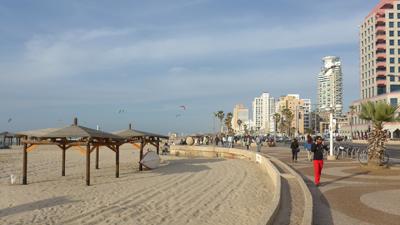 Israel, Tel Aviv, beach promenade