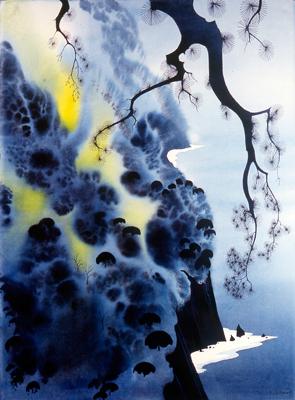 Eyvind Earle, art, watercolors