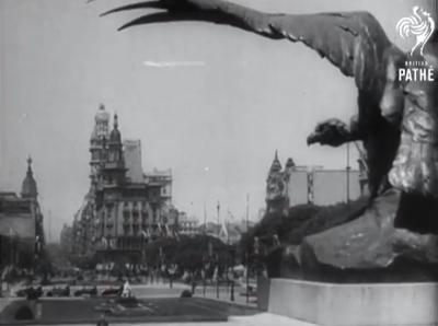 British Pathé newsreel capture, Buenos Aires, Palacio Barolo