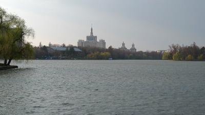 Bucureşti, Romania, Bucharest, Herăstrău Park, lake, Casa Presei Libere