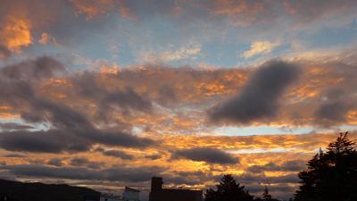 Argentina, Patagonia, Esquel, sunset