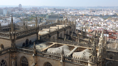 Spain, Andalucía, Sevilla, catedral, guidebook research, Rick Steves, 2015