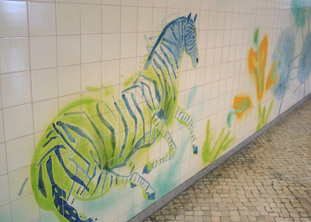 Portugal, Lisboa, Metro, subway, tiles, azulejos, linha azul, Jardim Zoológico, Júlio Resende