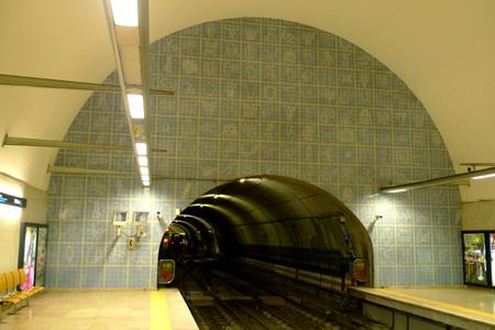 Portugal, Lisboa, Metro, subway, tiles, azulejos, Telheiras, Eduardo Batarda