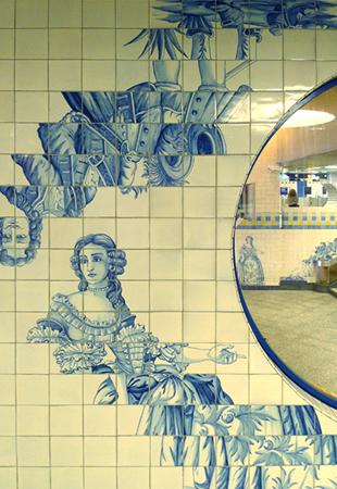 Portugal, Lisboa, Metro, subway, tiles, azulejos, Campo Grande, Eduardo Nery