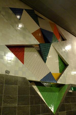 Portugal, Lisboa, Metro, subway, linha vermelho, tiles, azulejos, Chelas