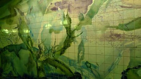 Portugal, Lisboa, Metro, subway, tiles, azulejos, linha vermelho, Oriente