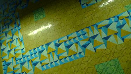Portugal, Lisboa, Metro, subway, linha azul, tiles, azulejos, Avenida