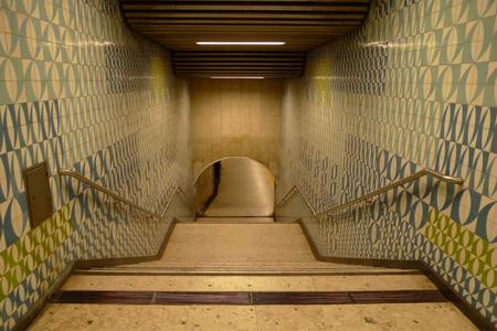 Portugal, Lisboa, Metro, subway, linha amarela, tiles, azulejos, Maria Keil, Picoas