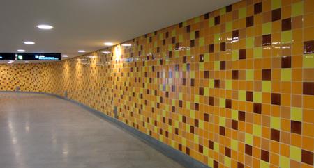 Portugal, Lisboa, Metro, subway, linha vermelho, tiles, azulejos, Encarnação