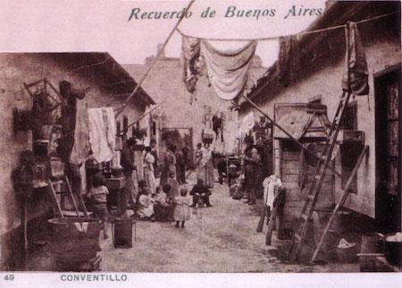 Argentina, Buenos Aires, conventillo, postcard