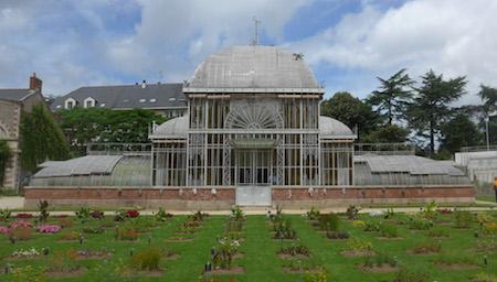 France, Nantes, Jardin des Plantes, greenhouse