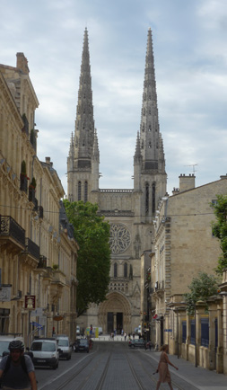 France, Bordeaux, Catédrale Saint-André, façade, Gothic, bell towers