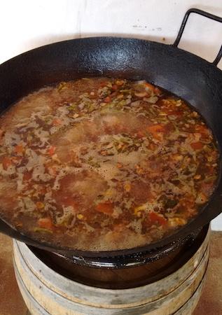 recipe, receta, sopa hervida, sopa hervía