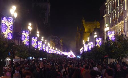 Spain, España, Christmas, Navidad, Sevilla, Avenida de la Constitución