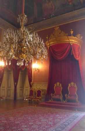 Portugal, Lisboa, Palácio da Ajuda, Sala dos Tronos, throne room