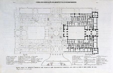 Portugal, Lisboa, Palácio da Ajuda, planta