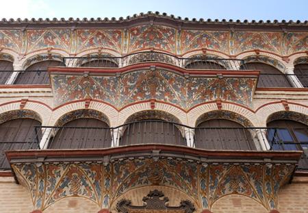 España, Spain, Andalucía, Écija, façade, fresco, silk guild