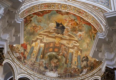 España, Spain, Sevilla, Jesuit, San Luis de los Franceses, Baroque, fresco, Saint Ignatius