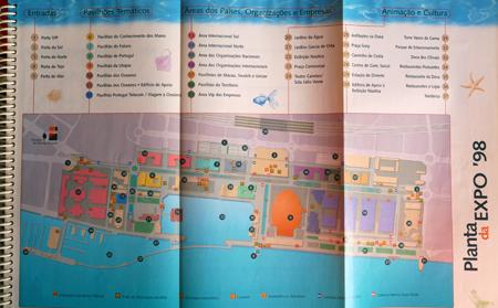 Portugal, Lisboa, Lisbon, Expo '98, mapa