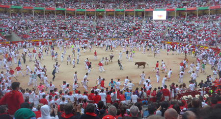 España, Spain, País Vasco, Basque Country, Pamplona, Iruña, Encierro, Running of the Bulls, Plaza de Toros