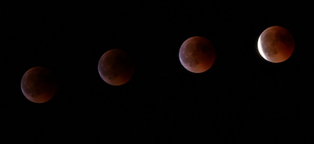 España, Spain, 2018, eclipse lunar, lunar eclipse