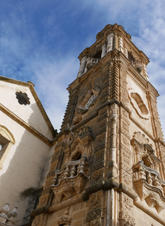 España, Andalucía, Osuna, Iglesia de La Merced, torre, bell tower