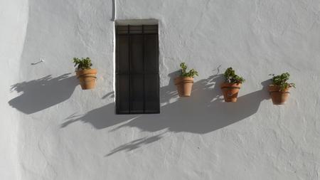 Arcos de la Frontera, macetas, flowerpots