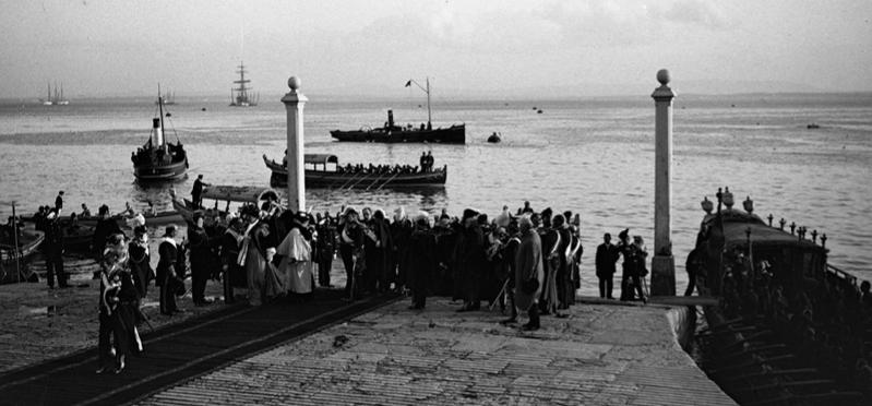 Portugal, Lisboa, Alfonso XIII, Cais das Colunas, 1903