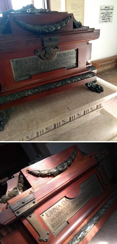 Portugal, Lisboa, Lisbon, Igreja da Memória, Marquês de Pombal, remains, urn